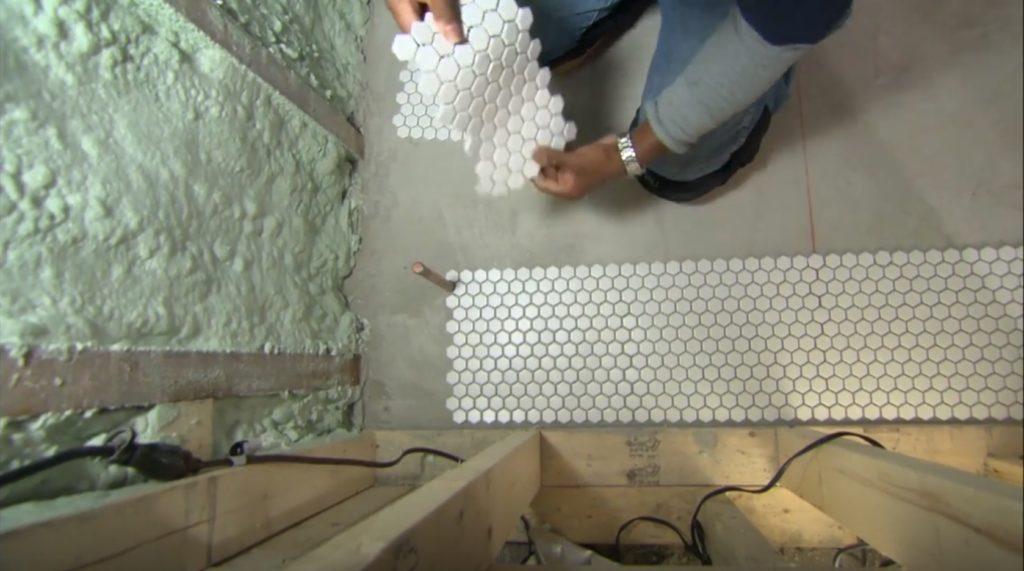 раскладка мозаичной плитки
