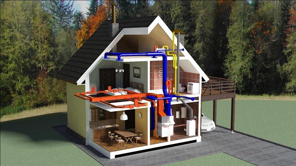 Устройство отопления частного дома